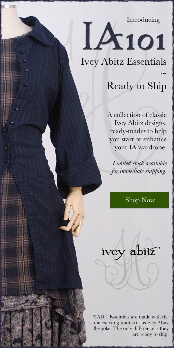 Introducing IA101 Essentials, a collection of ready-to-ship designs to jump start your Ivey Abitz wardrobe.
