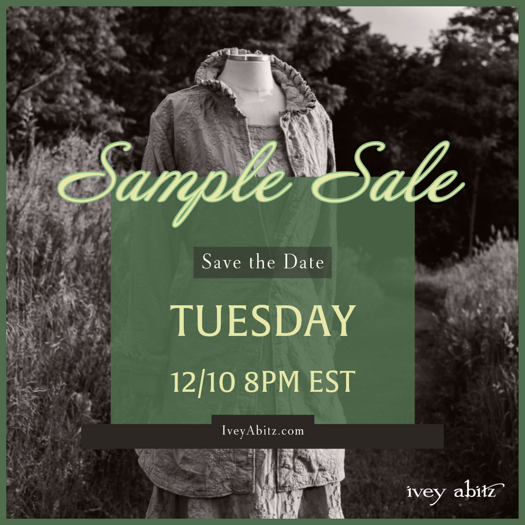 Sample Sale save the date ivey abitz