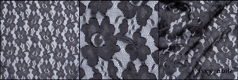 Grey Garden Embroidered French Lace