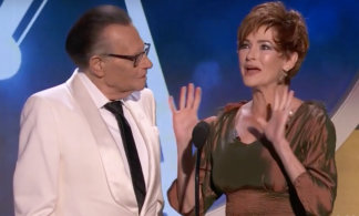 Carolyn Hennesy with Larry King