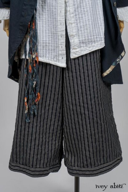 Highlands Shirt in White Wainscot Weave; Limited Edition Porte Cochere Sash in Cottage Garden Weave; Arthur Hill Jacket in Lakeland Washed Herringbone; Montague Trousers in Lakeland Woven Stripe. By Ivey Abitz