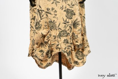 Scattergood Frock in Arthurian Green Floral Washed Linen