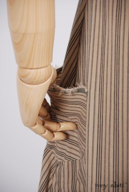 Trelawny Frock in Antiqued Striped Cotton