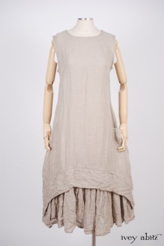 IA101 Blanchefleur Frock in Natural Old World Linen