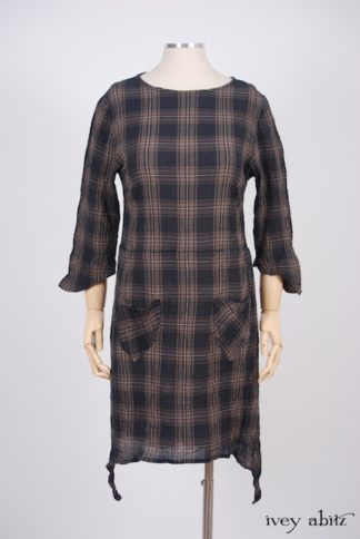 Dennison Dress in Lakeland Plaid Cotton Voile