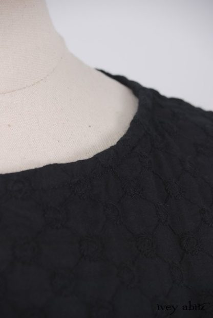 Edenshire Frock in Inkwell Embroidered Voile