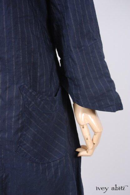Elsie Duster Coat in Lakeland Striped Weave