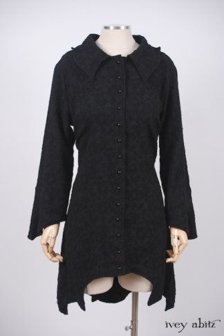 IA101 Chittister Shirt Jacket in Inkwell Jacquard Weave 1