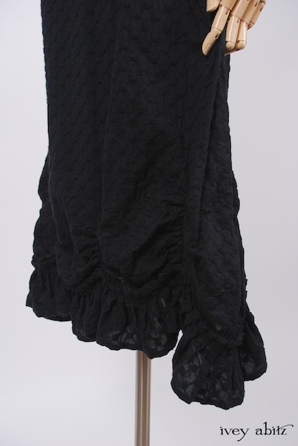 Elliot Jacket in Chimney Lightweight Linen Knit; Edenshire Frock Soot Embroidered Voile