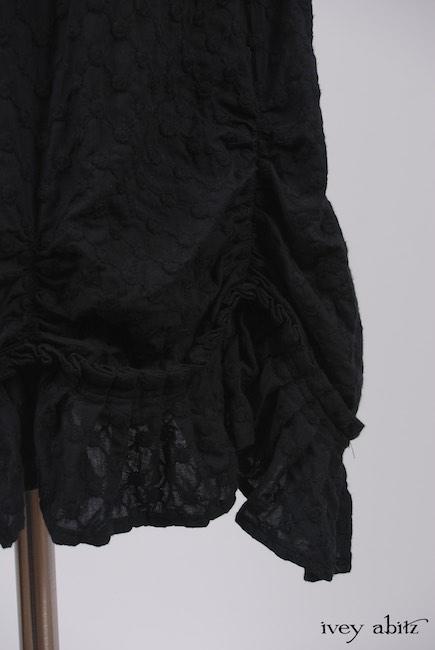 Elliot Jacket in Chimney Lightweight Linen Knit; Edenshire Frock Soot Embroidered Voile