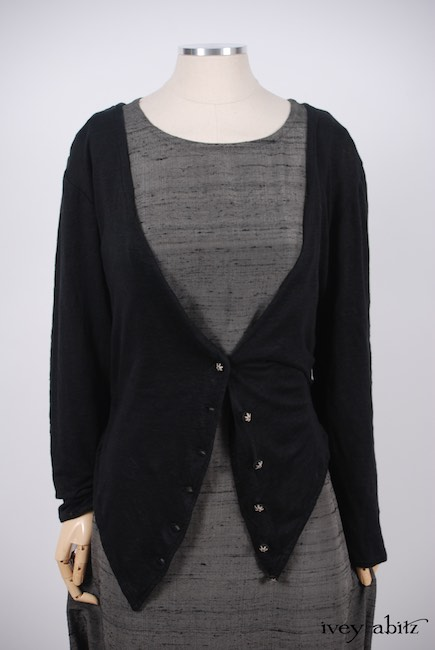 Elliot Jacket in Chimney Lightweight Linen Knit; Canterbury Frock in Wolfie Grey Washed Silk