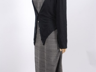 Elliot Jacket in Chimney Lightweight Linen Knit; Canterbury Frock in Wolfie Grey Washed Silk