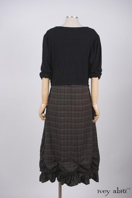 Elliot Jacket in Chimney Lightweight Linen Knit; Edenshire Frock in Brindle Plaid Weave
