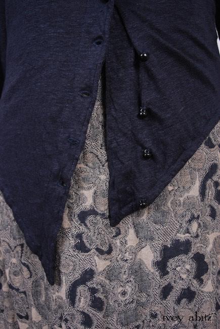 Elliot Jacket in Lakeland Lightweight Linen Knit; Limited Edition Blanchefleur Frock in Lakeland Floral Weave