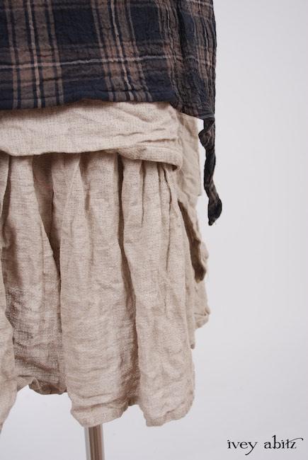 Dennison Dress in Lakeland Plaid Cotton Voile; Blanchefleur Frock in Natural Old World Linen