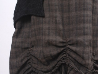 Chittister Shirt Jacket in Inkwell Jacquard Weave; Edenshire Frock in Brindle Plaid Weave by Ivey Abitz - 4
