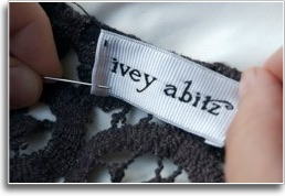sewing an ivey abitz label