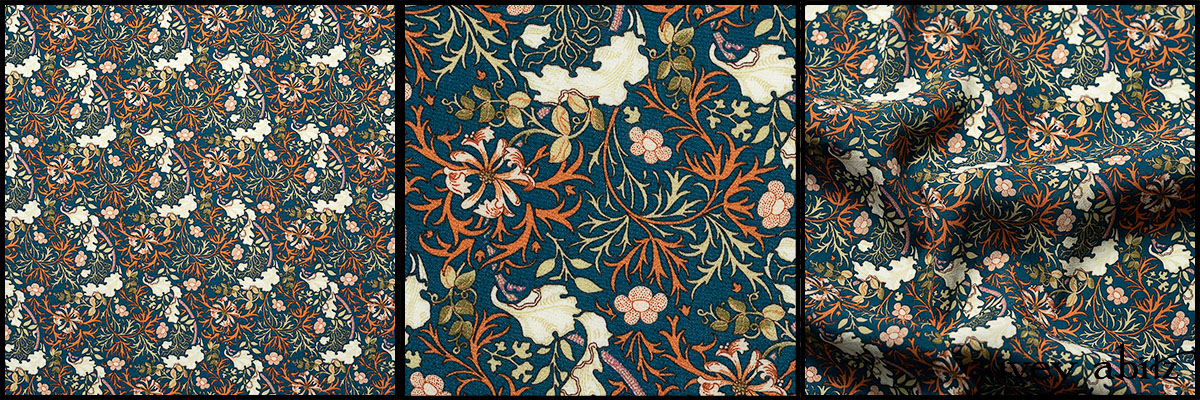Independence Floral and Vine Weave - Collection 64