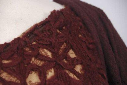 Fairholme Jacket in Cerise Puckered Knit; Nook Frock in Cerise Wool Lace; Inglenook Frock in Cerise Flock Washed Silk.   Ivey Abitz Bespoke Clothing.