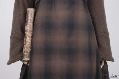 Eugenia Jacket in First Edition Ethereal Mohair Knit; Fairholme Frock in First Edition And Ink Ethereal Plaid Cotton.   Ivey Abitz Bespoke Clothing.