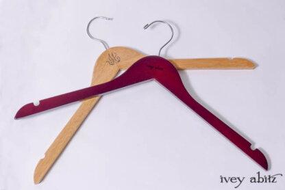 Ivey Abitz wooden hangers
