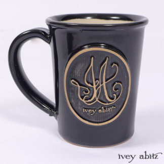 Ivey Abitz mug featuring the IA logo made in USA