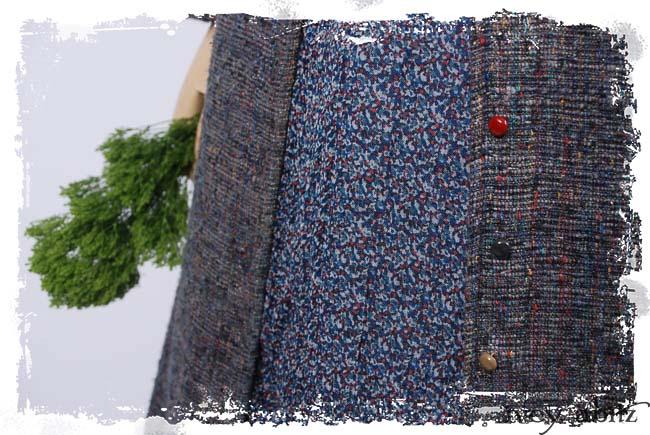 Look 11: Grasmere Duster Coat in Bouquet Old World Weave; Nook Frock in Fresh Water Mottled Silk Chiffon; Thatched Frock in Fresh Water Washed Linen; Cilla Slip Frock in Black Silk Knit. Ivey Abitz Spring Summer 2019