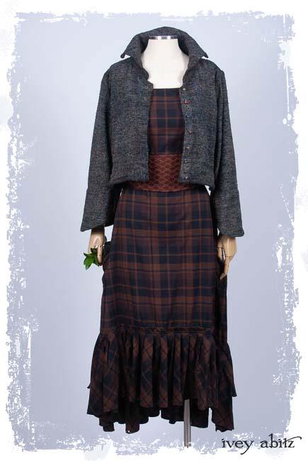 61852849b32 Look 38  Elliot Jacket in Bouquet Old World Silk  Evie Frock in Iced Tea