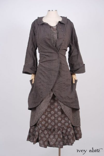Arthur Hill Jacket - a bespoke design shown in a look by Ivey Abitz