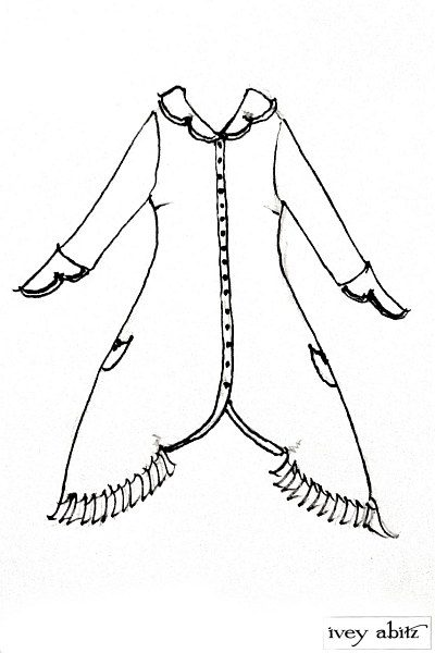 Hambledon Duster Coat drawing by Ivey Abitz