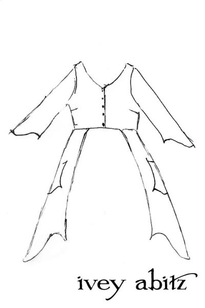 Highbridge Duster Coat drawing by Ivey Abitz