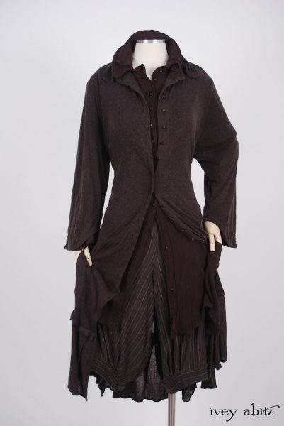 Inglenook Duster Coat - a bespoke design shown in a look by Ivey Abitz