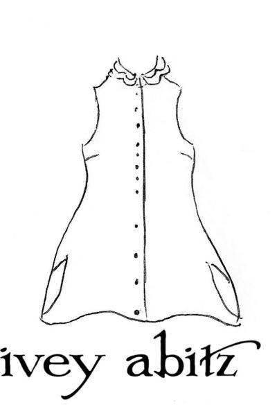 Inglenook Vest drawing by Ivey Abitz