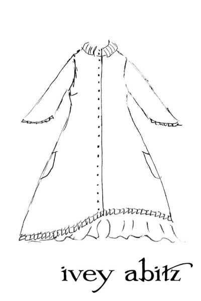 Wilhemena Duster Coat drawing by Ivey Abitz