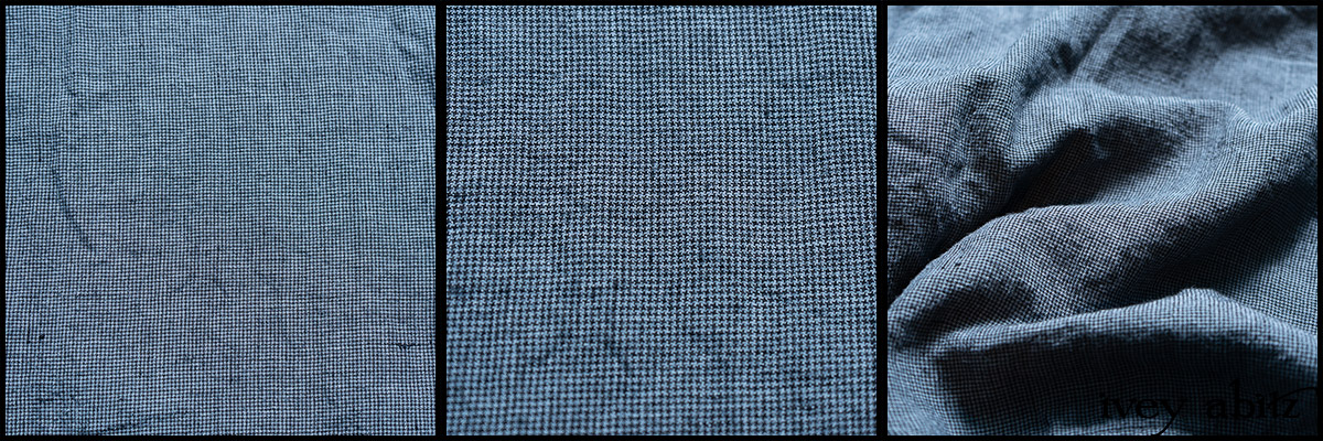 Lake Trail Washed Houndstooth Linen