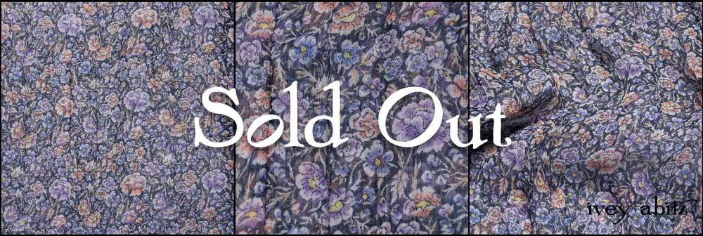 Lavender and Sun Floral Silk Chiffon