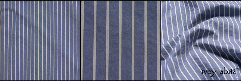 Lavender Blue Sky Stripe Poplin