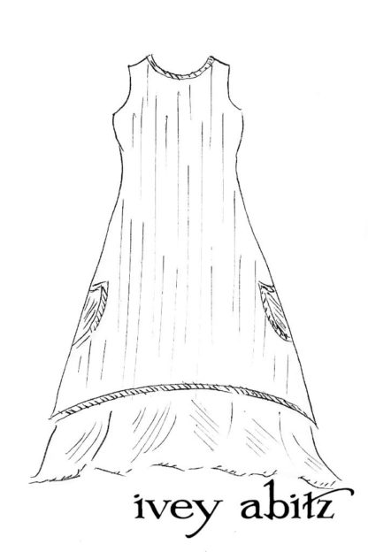 Limited Edition Striped Blanchefleur Frock drawing by Ivey Abitz