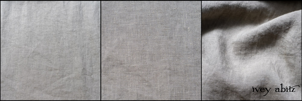 Leafy Washed Handkerchief Linen