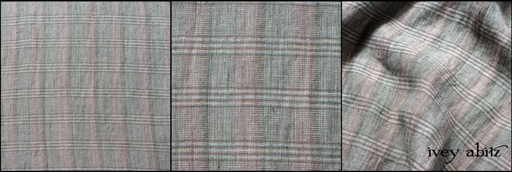 Leafy Washed Plaid Linen