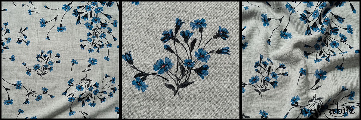 Liberty Forget-Me-Not Weave - Collection 64