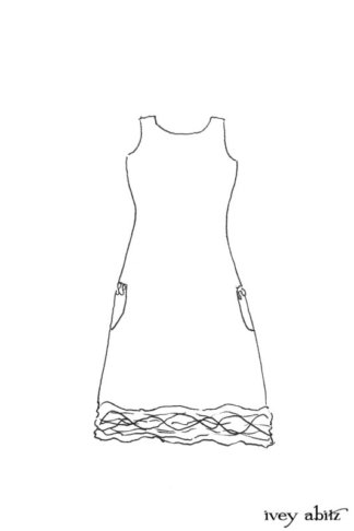 Mewland Frock drawing by Ivey Abitz