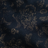 Description: A deep Midnight Train (black) background makes way for a muted Lantern print. It is subtle, yet still stunning, for a quietly brilliant addition in an ensemble. It has been set aside for layering frocks and a selection of our shirts, skirts, and jackets. Content: Silk and viscose. Three season weave. Care: Simply hand wash or put through machine delicate cycle in cold water with a plant based detergent. We suggest using a natural fabric softener to maintain the softness we have washed into it. Tumble dry on extra-low heat with our artisan wool dryer balls, just for a few minutes, to keep the relaxed effect that is featured in the Look Book.