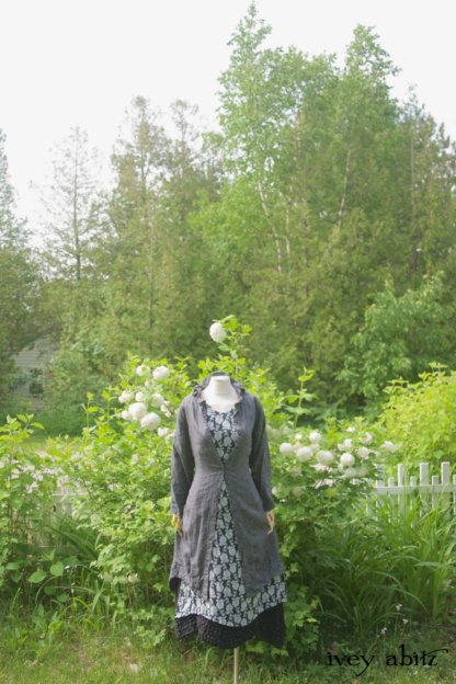Nook Frock in Black and White Floral Voile - Size M