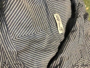 Porte Cochere Duster Coat in Morning Sky Striped Voile    by Ivey Abitz