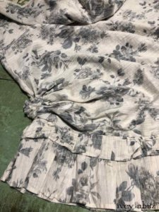 Canterbury Frock in Misty Fog Floral Voile    by Ivey Abitz
