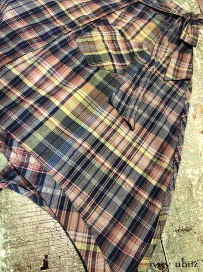 Highlands Skirt in Onward Blue Cottage Plaid   by Ivey Abitz
