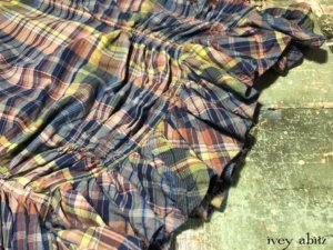 Cozette Skirt in Onward Blue Cottage Plaid   by Ivey Abitz