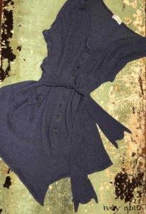 Fairholme Vest in Onward Blue Puckered Knit   by Ivey Abitz