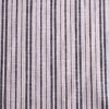 Description: Muted navy and soft whites mixed together have a bold presence without completely taking over the body. That is why we are so smitten with this stripe weave. The two hues are cross woven together to create texture and depth. We have put it through an additional washing process to enhance the softness. It is ideal for layering frocks, shirts, lightweight trousers, sashes, and a selection of our duster coats. Opaque and breathable, it is a good choice for layering in cooler seasons or on its own in warmer temperatures for the hottest summer days. It is thicker than a handkerchief linen and less voluminous than our wondrous washed linens. Content: Linen with a hint of cotton, woven in Europe. All season weave. Care: Simply hand wash or put through machine delicate cycle in cold water with a plant based detergent. We suggest using a natural fabric softener to maintain the softness we have washed into it. Tumble dry on extra-low heat with our artisan wool dryer balls to keep the relaxed effect that is featured in the Look Book. If you are the least bit concerned about any fabric weight or hue, order the fabric swatch portfolio so you can have them in hand whilst you decide. They will answer all of your questions!